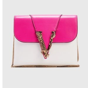 💗💗NWT Versace Virtus Leather Evening Clutch